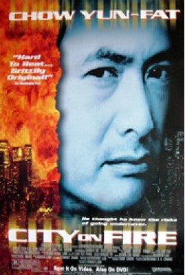 City of Fire Movie Poster 27x40  Used Chow Yun-Fat
