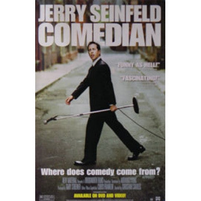 Comedian Movie Poster 27X40  Used Jerry Seinfeld
