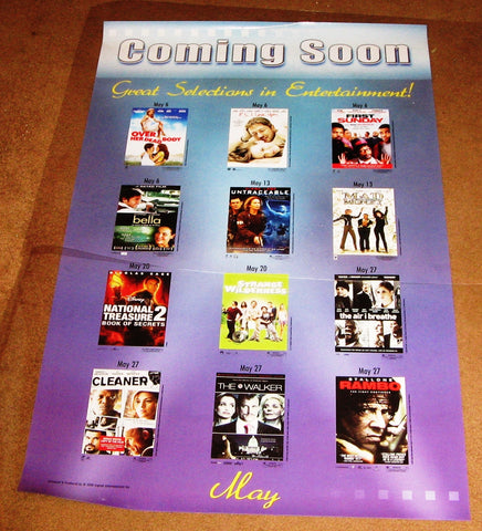 Coming Soon May 2008 Movie Poster 27x40 Used