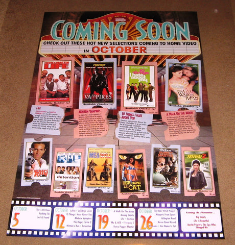 Coming Soon October 1999 Movie Poster 24x36  Used