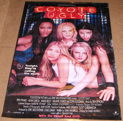 Coyote Ugly Movie Poster 27x40 Used Tara Nicole Hughes, Ellen Cleghorne, Adam Garcia, Patty Tobin, Bridget Moynahan, Elizabeth Beckwith, Michael Weston, Kaitlin Olson, Johnny Knoxville, Frank Medrano