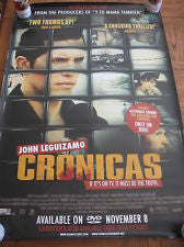 Cronicas Movie Poster 27x40 Double Sided Poster Used