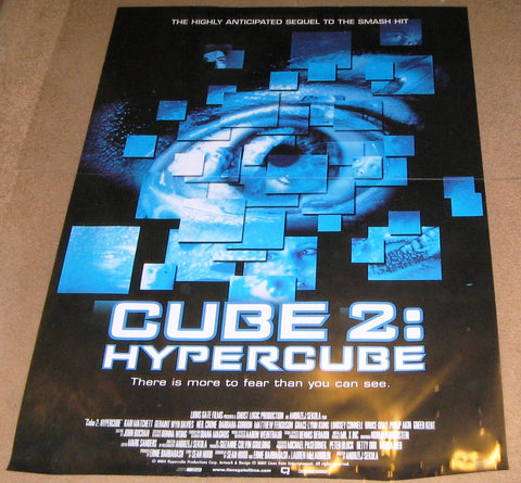 Cube 2 Hypercube 2002 Movie Poster 27x40 Used