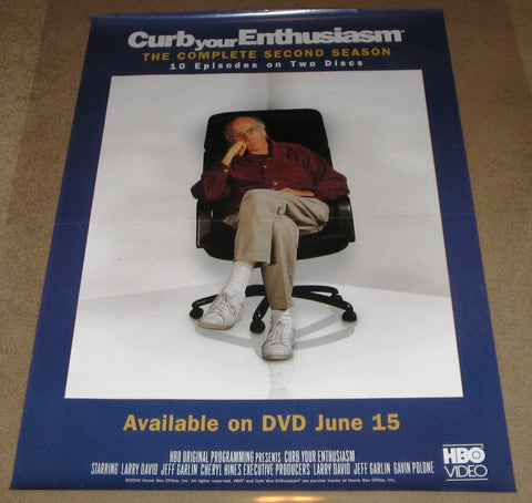 Curb Your Enthusiasm The Complete Second Season Movie Poster 27x40  Used