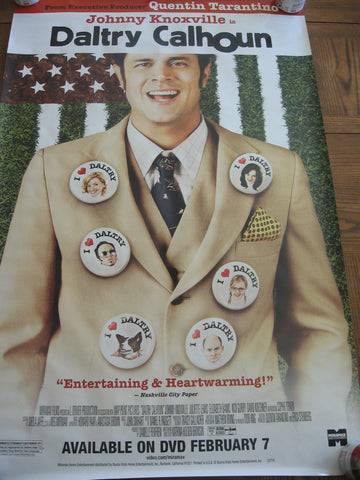 Daltry Calhoun Movie Poster 27x40 Used Johnny Knoxville, Quentin Tarantino