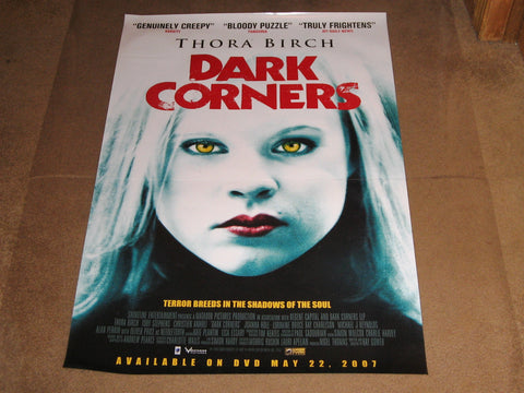 Dark Corners Movie Poster 27x40	 Used Thora Birch