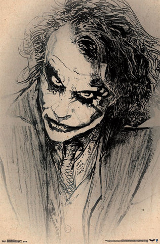 Dark Knight - Sketch Poster 22x34 RP13555 UPC882663035557