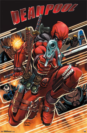 Deadpool - Attack Movie Poster 22x34 RP13561 TV Show UPC882663035618 Marvel