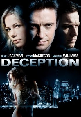 Deception 2008 Movie Poster 27x40 Used Hugh Jackman, Ewan McGregor, Michelle Williams