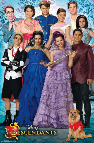 Descendants - Group Movie Poster 22x34 RP14016 UPC882663040162