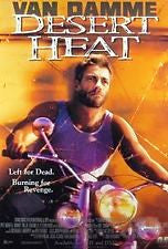 Desert Heat Movie Poster 27x40 Used Jean-Claude Van Damme