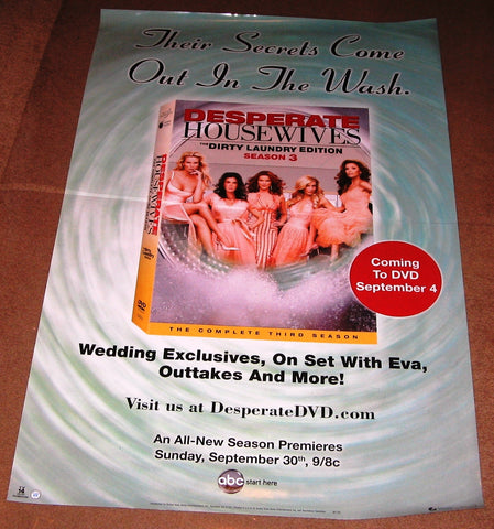 Desperate Housewives the Dirty Laundry Edition Season 3 DVD Poster 27x40 Used