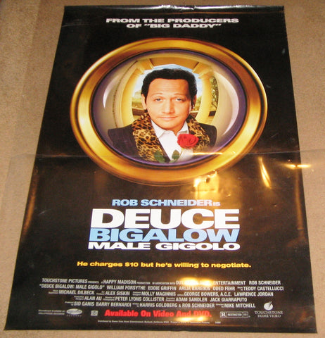 Deuce Bigalow Male Gigolo 1999 Movie Poster 27x40 Used Rob Schneider, Norm MacDonald, Eddie Griffin, William Forsythe