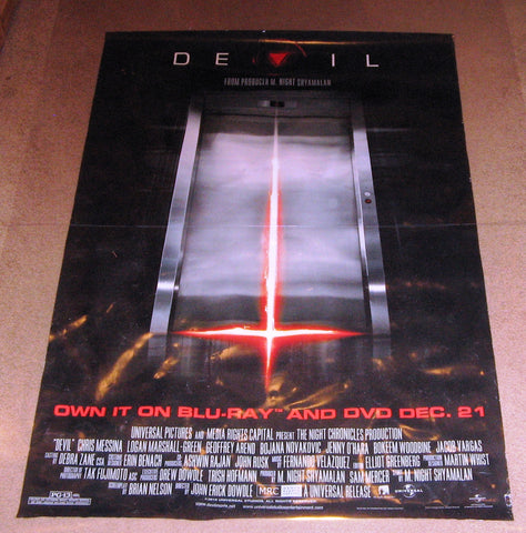 Devil movie Poster 27x40 Used Caroline Dhavernas, Jonathan Potts, Jenny O'Hara, Bojana Novakovic, Jay Hunter, Matt Craven, Robert Lee, Joshua Peace, Geoffrey Arend, Craig Eldridge, Bokeem Woodbine