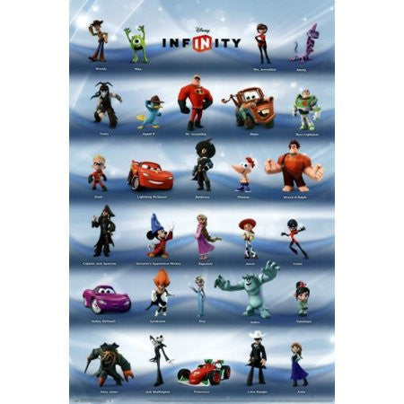 Disney Infinity - Phase 1 Grid Game Poster RP13104 UPC882663031047 22x34