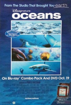 Disney Nature Oceans Movie Poster 27x40 Used