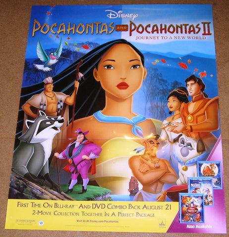 Pocahontas Combo Pack Movie Poster 22x28 Used Disney