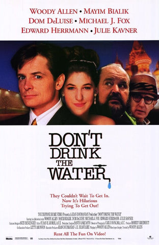 Don't Drink The Water Movie Poster 27x40 Used Michael J Fox, Ed Van Nuys, Dom DeLuise, Woody Allen