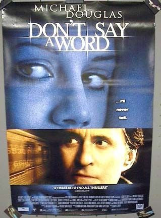 Don't Say A Word Movie Poster 27x40	 Used Michael Douglas Brittany Murphy