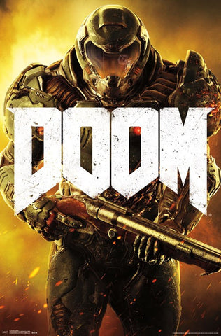 Doom - Marine Video Game Poster 22x34 RP14726 UPC882663047260