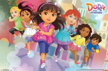 Dora & Friends - Running TV Show Poster 22x34 RP13954 UPC882663039548