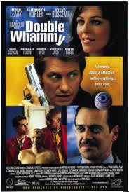 Double Whammy Movie Poster 27x40 Used Sharon Wilkins, Maurice Compte, Bill Boggs, Gloria Irizarry, Kerry Li, Laurie Wallace, Sally Jessy Raphael, Leslie Lyles, Victor Argo, Keith Nobbs, Marjan Neshat, Melonie Diaz