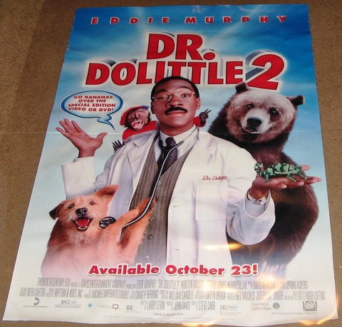 Dr. Dolittle 2 Movie Poster 27x40 Used Eddie Murphy