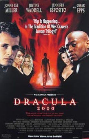 Dracula 2000 Movie Poster 27x40 Used Jonny Lee Miller, Robert Verlaque, Tig Fong, Tony Munch, Gerard Butler, Tom Kane, Colleen Fitzpatrick, Christopher Plummer, Danny Masterson, Peter Cox, Sean Patrick Thomas, Shane West, Randy Butcher, Omar Epps,
