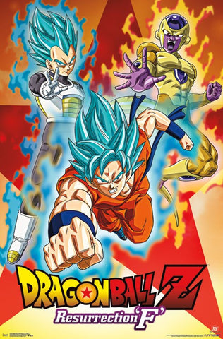 Dragon Ball Z Resurrection F - Group Wall Poster RP15208 22x34 UPC882663052080