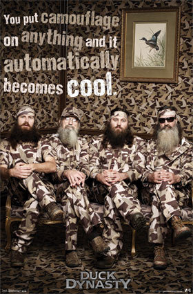 Duck Dynasty – Camo 22x34 TV Show Poster RP2167 UPC017681021675