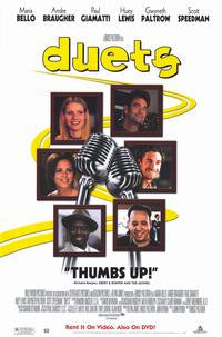 Duets 2000 Movie Poster  27x40 Used Gwynth Paltrow, Huey Lewis, Paul Giamatti, Marie Bello, Andre Braucher, Scott Speedman
