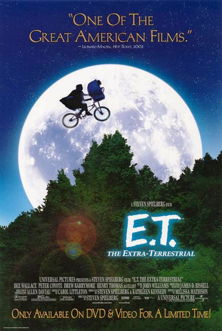 E.T. The Extra-Terrestrial Movie Poster 27x40 Used Rare (1982) Steven Spielberg, Jean-Paul Hellendall,  Anne Lockhart, Sean Frye, Milt Kogan, Drew Barrymore, Erika Eleniak, C Thomas Howell, Henry Thomas, Mary Stein, Robert MacNaughton, KC Martel