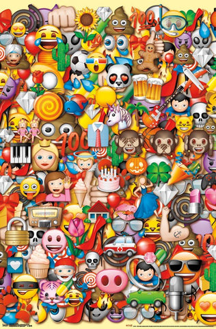 Emoji - Collage Wall Poster 22x34 RP15198 UPC882663051984