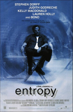 Entrophy 1999 Movie Poster 27x40 Used Stephen Dorff Judith Godreche Kelly Macdonald Lauren Holly Bono