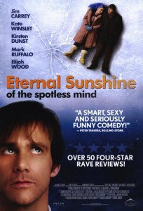 Eternal Sunshine of the Spotless Mind 2004 Movie Poster 27X40 Used Jim Carrey, Kate Winslet, Kristen Dunst, Elijah Wood, Mark Buffalo