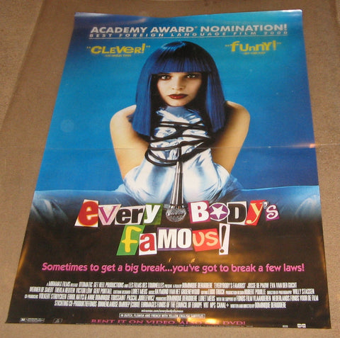 Everybody's Famous 2000 Movie Poster 27x40 Used