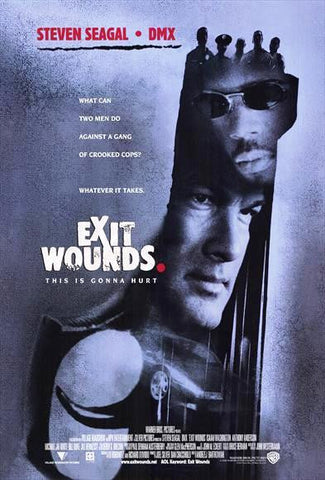 Exit Wounds Movie Poster 27x40 Used Steven Seagal DMX