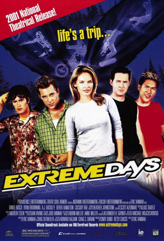 Extreme Days Movie Poster 27x40 (2001) Used Dante Basco, AJ Buckley, Jeff Enden, Ryan Browning, Chao Li Chi, Cassidy Rae, John Rosenfeld, Andrew Cappelletti, Derek Hamilton, Scott Fisher