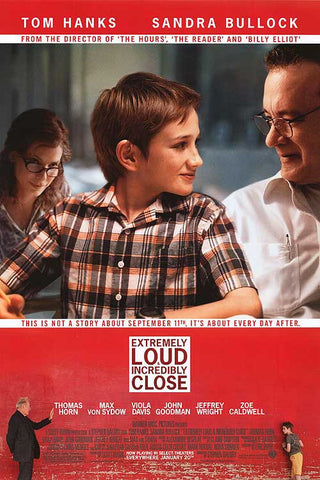 Extremely Loud and Incredibly Close 2011 Movie Poster 27x40 Used Tom Hanks, Sandra Bullock, Tomas Horn, Max Von Sydow, Vola Davis, John Goodman, Jeffery Wright, Zoe Caldwell