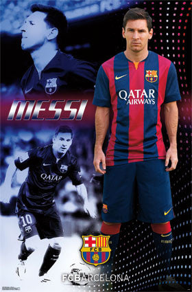 FC Barcelona - L Mess 1 14 Poster 22x34 RP13822 UPC882663038220 Lionel Messi 2014 Sports Soccer