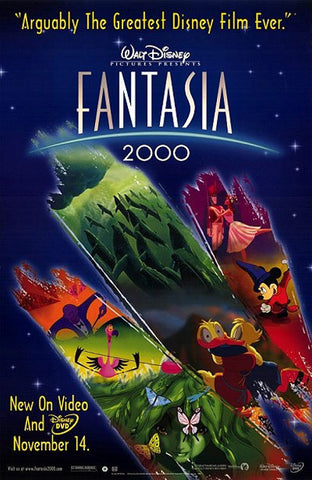Fantasia 2000 Movie Poster 27x40 Used Disney Quincy Jones, Bette Midler, James Earl Jones, Angela Landsbury, Steve Martin