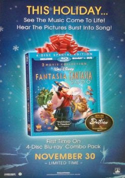 Fantasia 2000 Special Edition Movie Poster 27x40 Used Disney