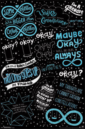 Fault in our Stars - Love Note Movie Poster 22x34 RP13496 UPC882663034963