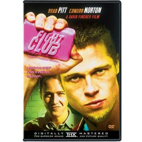 Fight Club 1999 Movie DVD Used Edward Norton, Meat Loaf, Brad Pitt UPC024543044789