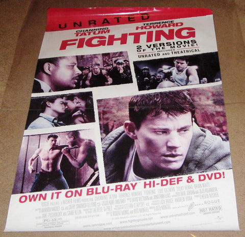 Fighting Unrated 2009 Movie Poster 27x40 RP0000 Used Channing Tatum, Terrence Howard