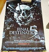 Final Destination 5 Movie Poster 27x40 Used Ian Thompson, PJ Byrne, Courtney B Vance, Arlen Escarpeta, Brent Stait, June B Wilde, Tanya Hubbard, David Koechner, Nicholas D'Agosto, Michael Adamthwaite, Roman Podhora, Dawn Chubai, Barclay Hope, Tony Todd