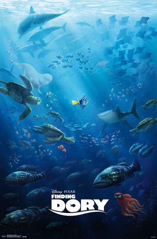 Finding Dory - One Sheet Movie Poster 22x34 RP14746 UPC882663047468 Pixar Disney