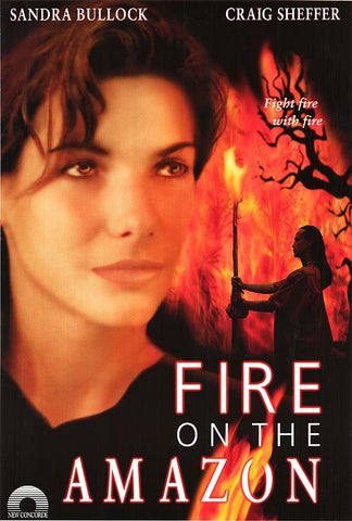 Fire On The Amazon 2000 Movie Poster 27x40 Used Sandra Bullock