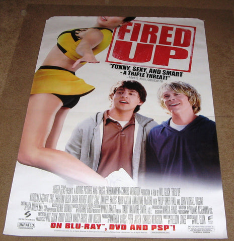 Fired Up Movie Poster 27x40	 Used Molly Sims, Smith Cho, Nicholas D'Agosto, Kate Lang Johnson, Kayla Ewell, Roni Meron, Amy Paffrath, Edie McClurg, Jake Sandvig, Alan Ritchson, Dave Johnson, Jenny Robinson, Masi Oka, Sarah Roemer, Nicole Tubiola