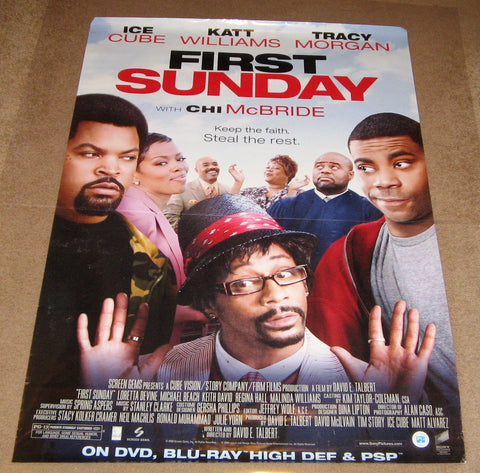 First Sunday 2008 Movie Poster 27x40 Used Ice Cube, Tracy Morgan, Katt Williams, Chi McBride